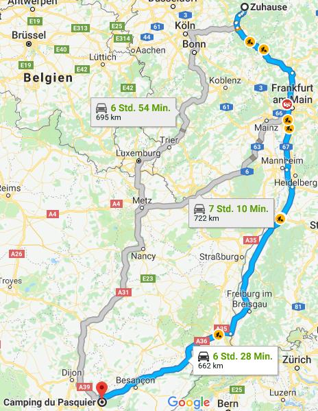 Route Zuhause Dole
